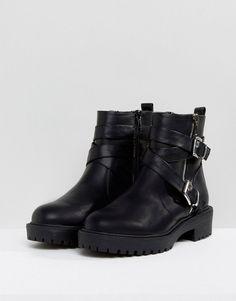 ASOS ACCESS Biker Boots - Black