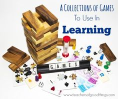 A Collection of Board Games to Use in Learning | www.teachersofgoodthings.com