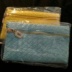 Wristlets!! Brand new and super cute! Brand new wristlet/clutch bags. Great for going out without a bulky bags and fits all necessities!  Currently light blue and yellow available! More to come. Ask me if you're looking for a specific color, I'll be happy to custom order. $12 each Bags Clutches & Wristlets