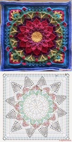Mandala: Crochet Motifs...? Deniz ? (Mix Patterns Yarns)