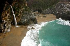 Alamere Falls - Bolinas, California - 40 Foot Waterfall by the Ocean