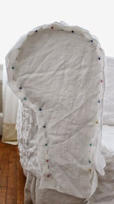 Rustic Farmhouse: Linen Slipcover (Part 1)