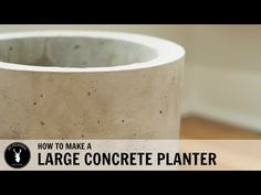 How to Make a Large Concrete Planter - YouTube