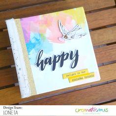 mini-album-madrid-by-loneta Scrapbook Cover, Scrapbook Albums, Scrapbooking, Project Life, Mini Albums Scrap, Handmade Stamps, Happy Mail, Mini Books, Blog