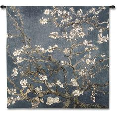 The Almond Blossom by van Gogh fine art tapestry wall hanging has texture not found in any other art form. Hanging on your wall, the combination of the thread colors and weaves create a unique art experience that changes with each viewing angle. Tree Tapestry, Tapestry Weaving, Hanging Wall Art, Tapestry Wall Hanging, Wall Hangings, Large Tapestries, Vincent Van Gogh, Van Gogh Almond Blossom, Cherry Blossom