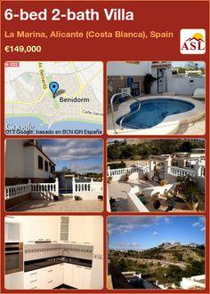 6-bed 2-bath Villa in La Marina, Alicante (Costa Blanca), Spain ►€149,000 #PropertyForSaleInSpain