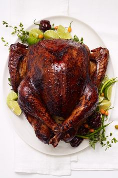 CHILE & BEER-BRINED TURKEY [Mexico, Modern] [Alison Roman] [bonappetit] [chile, chilli, chili, pepper, chili pepper, hot pepper]