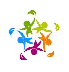 Logo Globe, Family Logo, People Icon, Child Day, Happy People, Logo Design Inspiration, Business Logo, Teamwork, Logo Templates