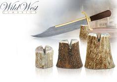 "NobleWares Image of Stag Antler Knife Display 1-1/4"" Small SVSS, 1-5/8"" Medium…"