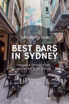 Best bars in Sydney - trendy pubs, speakeasy bars & more!