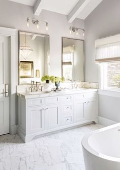How to Light Your Bathroom: 3 Expert Tips on Choosing Fixtures and Mor - Architectural Digest Bathroom Mirror Design, Bathroom Renos, Small Bathroom, Bathroom Lighting, Bathroom Mirrors, Bathroom Ideas, White Bathrooms, Bathroom Updates, Vanity Mirrors