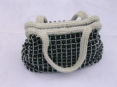 Vintage Plastic Beaded Handbag    **CLOSING –SEE VINTAGE PURSE LOVE 2