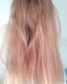 Rose-gold hair colour -bleach London rosé -bleach London awkward peach