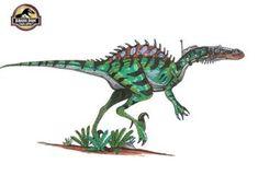 Lenght: 20 m/ 65 feet long Height: 15 m/ 49 feet tall Weight: tons Mix between: Velociraptor,Spinosaurus, T-rex and Carcharodontosaurus Jurassic World Dinosaurs, Jurassic Park World, Science Fiction Games, Spinosaurus, Dinosaur Art, Prehistoric Creatures, Deviantart, T Rex, Troops