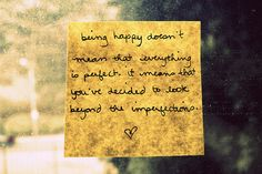 Being happy.