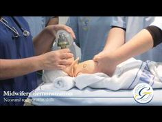 Joy James teaches neonatal resuscitation skills in the clinical simulation centre
