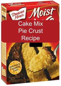 Cake Mix Pie Crust Recipe