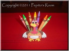 PrintINK Color Me Turkey Crayon Holder  by PepitosRoom on Etsy