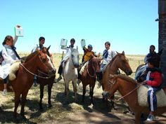 Children, horses, laptops in Uruguay