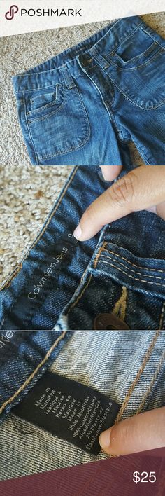 Calvin Klein Lean Bootcut Jeans Good condition.  Lightly worn No flaws.  If you need measurements let me know ! :)   These are a size 0 Calvin Klein Jeans Boot Cut