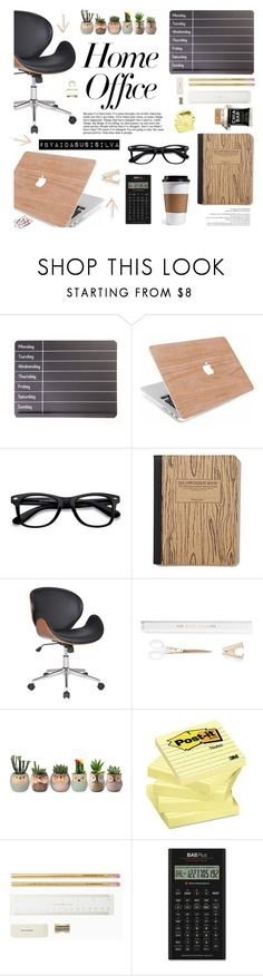 """""""Work Hard: Home Office"""" by aidasusisilva ❤ liked on Polyvore featuring interior, interiors, interior design, home, home decor, interior decorating, EyeBuyDirect.com, Once Upon a Time, Adeco and Kate Spade"""
