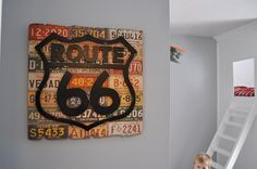 "This kids bedroom makeover could be a #Missouri pleaser. It features a Route 66 sign and ""craftsman double-decker bed."""