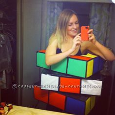 Homemade Rubik's Cube Costume that was a Huge Hit!... This website is the Pinterest of costumes