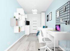 pokój dziewczynki Office Desk, Corner Desk, Loft, Room Decor, Bed, Furniture, Mini, Living Room, Corner Table