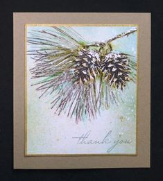*CC508 Pine Cone Thanks by hobbydujour - Cards and Paper Crafts at Splitcoaststampers