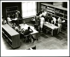 Students studying in Fondren Library, 1964