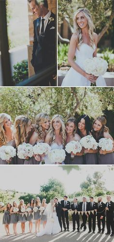 grey dresses with white flowers