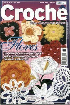 Croche Minuano n - xp - Picasa Web Albums Crochet Symbols, Crochet Chart, Crochet Motif, Irish Crochet, Knitting Books, Crochet Books, Thread Crochet, Crochet Flower Patterns, Crochet Flowers
