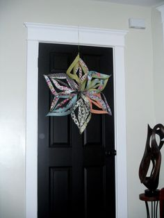 #papercraft Large hanging twirly paper star tutorial
