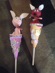 how to make a stick or pop up puppet