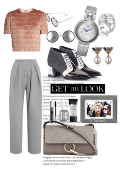 """fashion"" by avestaisikli on Polyvore featuring moda, Raey, Alberto Guardiani, Linda Farrow, Christian Dior, Essie, Smashbox, Vika Gazinskaya, Malden International Designs ve Jaquet Droz"