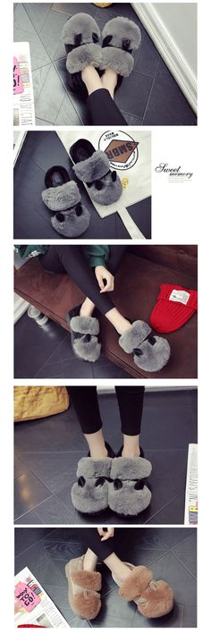 Narwhal Lovely Style Thicken Soft Cotton Floor Slippers Woman Warm Shoes LY