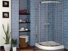 The Crystal Tech St.Matheus Chrome Quadrant Shower Enclosure offers a chrome finish, clear glass, and curved shape style to perfect your beautiful bathroom Shower Tile, Corner Shower, Shower Enclosure, Shower Stall Kits, Shower Bath, Decorating Bathroom, Shower Doors, Bathroom Shower, Bathrooms Remodel