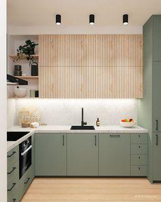 Kitchen Room Design, Modern Kitchen Design, Home Decor Kitchen, Interior Design Kitchen, Kitchen Furniture, Home Kitchens, Small Space Kitchen, Interior Modern, Small Spaces