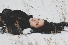 Женщина, Модель, Что Создает, На Открытом Воздухе, Снег