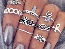Fingerspitzenring Boho Ring 10 Stück Ethno