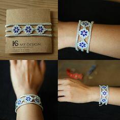 """75 mentions J'aime, 1 commentaires - KS My Design (@ksmydesign) sur Instagram : """"Kar kış broşu sahibinden fotoğraf geldi 😍 #kar #kış #necklace #miyuki #miyukikolye #kuzguncuk…"""" Diy Jewelry, Beaded Jewelry, Jewelery, Beaded Bracelets, Bracelet Patterns, Beading Patterns, Peyote Stitch, Brick Stitch, Loom Beading"""