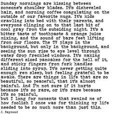 J. Raymond | Sunday mornings.