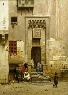 """srednod: """" Binnenplaats van een huis te Caïro - Willem de Famars Testas 1868 """""""