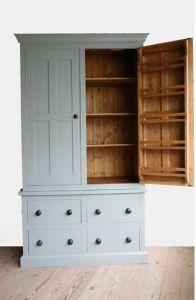 Handmade Solid Wood Larder Unit Freestanding Kitchen Units John Willies Country Kitchens