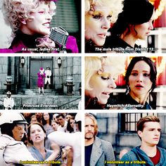 Hunger Games / Catching Fire parallel GIFset
