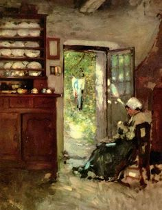 Nicolae Grigorescu Interior in Vitré - The Largest Art reproductions Center In Our website. Low Wholesale Prices Great Pricing Quality Hand paintings for saleNicolae Grigorescu Social Realism Art, A4 Poster, Poster Prints, Human Pictures, Vintage Artwork, Old Art, Modernism, Large Art, Art Reproductions