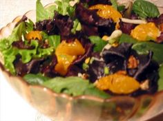 Mandarin Orange Salad With Ranch Dressing from Food.com:   I scored the recipe for this great salad that was brought to a potluck. This is, for me, the best salad I have ever tasted. I'm going to be making it for my extended family for Christmas Eve.