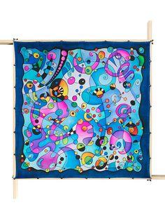 Lenço Guttado 90x90cm - Mirio - Denise Meneghello