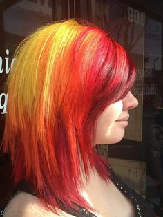 red, orange, and yellow hair