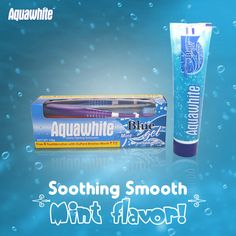 Advance your oral care routine today with Aquawhite Mint Blue toothpaste that helps to whiten teeth and keep the breath fresh.